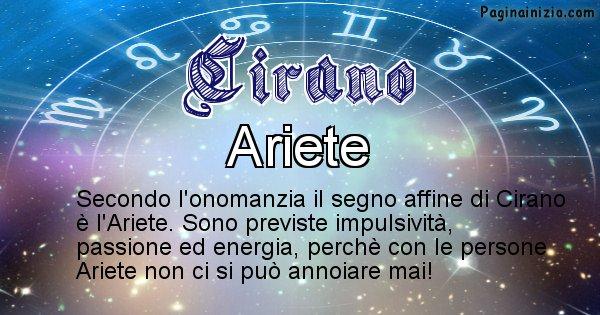 Cirano - Segno zodiacale affine al nome Cirano