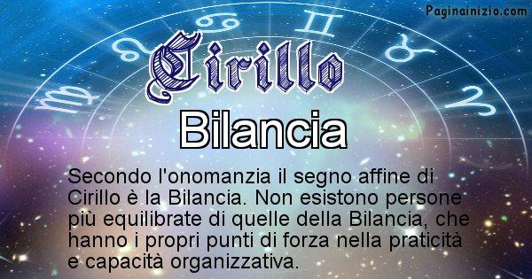Cirillo - Segno zodiacale affine al nome Cirillo