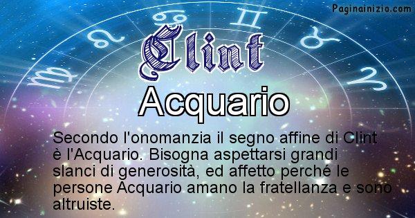 Clint - Segno zodiacale affine al nome Clint