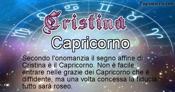 Cristina - Segno zodiacale affine al nome Cristina