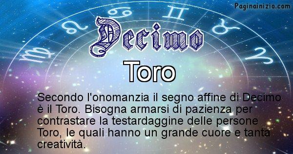 Decimo - Segno zodiacale affine al nome Decimo