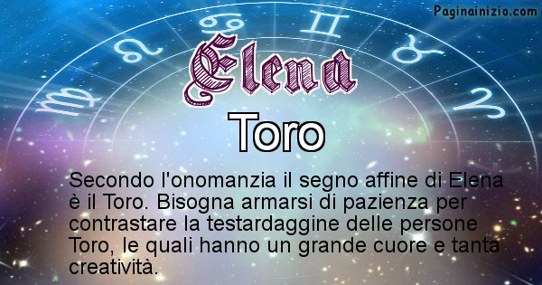 Elena - Segno zodiacale affine al nome Elena