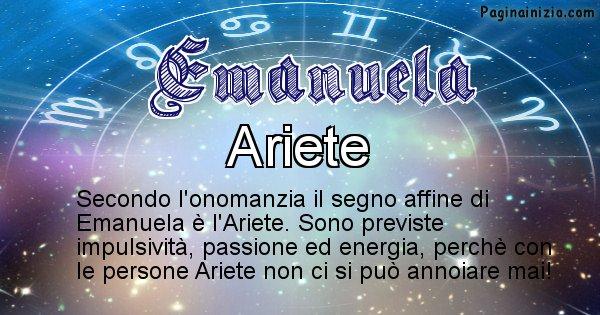 Emanuela - Segno zodiacale affine al nome Emanuela