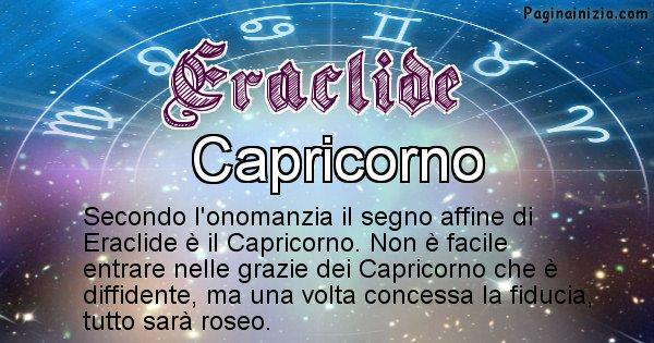 Eraclide - Segno zodiacale affine al nome Eraclide