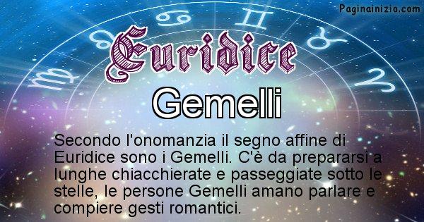 Euridice - Segno zodiacale affine al nome Euridice