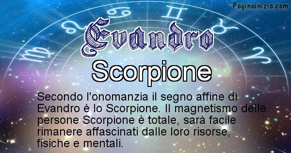 Evandro - Segno zodiacale affine al nome Evandro