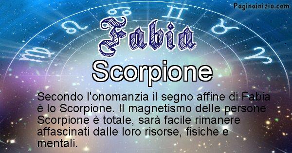 Fabia - Segno zodiacale affine al nome Fabia