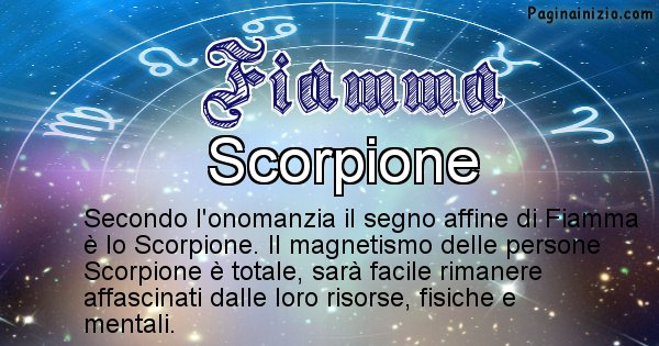 Fiamma - Segno zodiacale affine al nome Fiamma