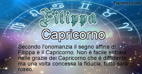 Filippa - Segno zodiacale affine al nome Filippa