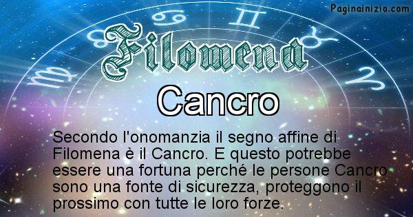 Filomena - Segno zodiacale affine al nome Filomena