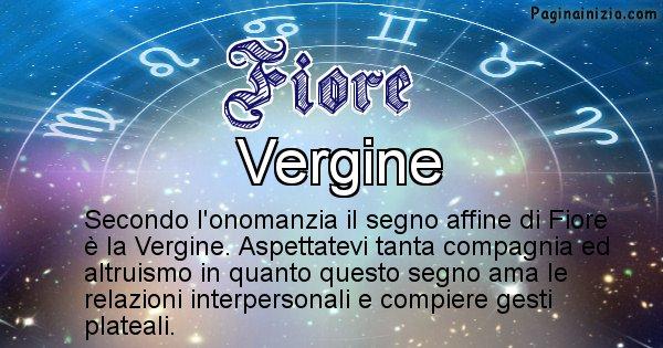 Fiore - Segno zodiacale affine al nome Fiore
