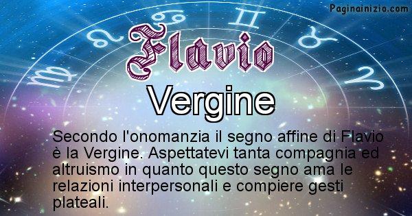 Flavio - Segno zodiacale affine al nome Flavio