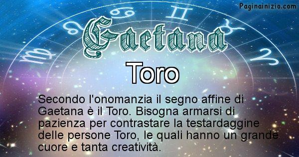 Gaetana - Segno zodiacale affine al nome Gaetana