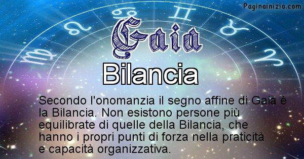 Gaia - Segno zodiacale affine al nome Gaia