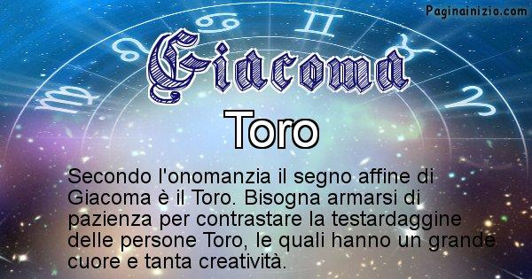 Giacoma - Segno zodiacale affine al nome Giacoma