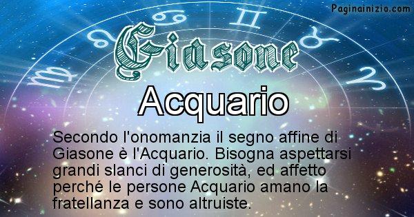 Giasone - Segno zodiacale affine al nome Giasone