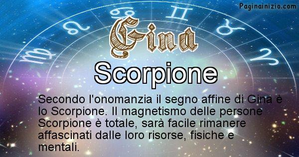 Gina - Segno zodiacale affine al nome Gina