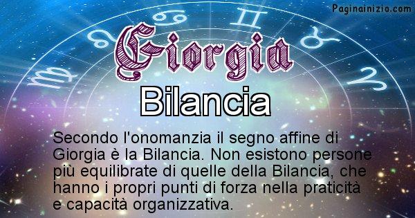 Giorgia - Segno zodiacale affine al nome Giorgia