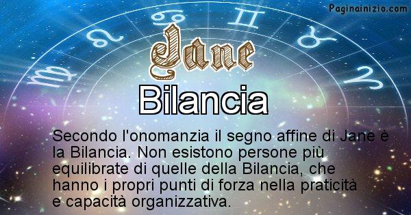 Jane - Segno zodiacale affine al nome Jane