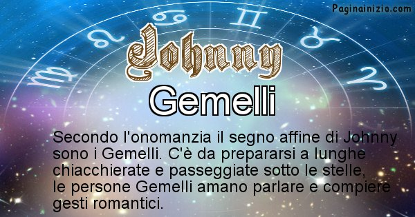 Johnny - Segno zodiacale affine al nome Johnny