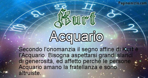 Kurt - Segno zodiacale affine al nome Kurt
