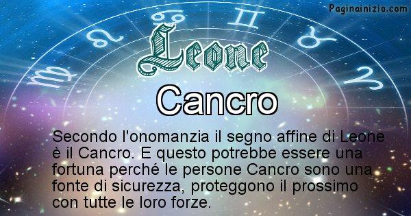 Leone - Segno zodiacale affine al nome Leone