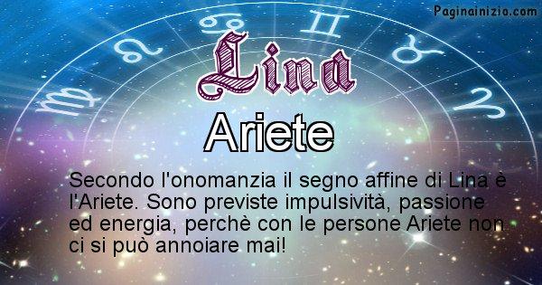 Lina - Segno zodiacale affine al nome Lina
