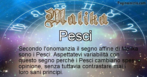 Malika - Segno zodiacale affine al nome Malika