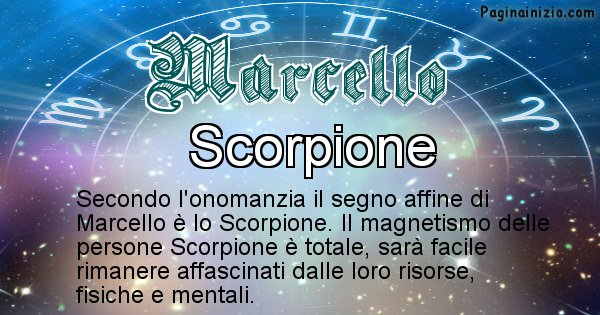 Marcello - Segno zodiacale affine al nome Marcello