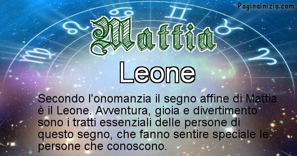 Mattia - Segno zodiacale affine al nome Mattia