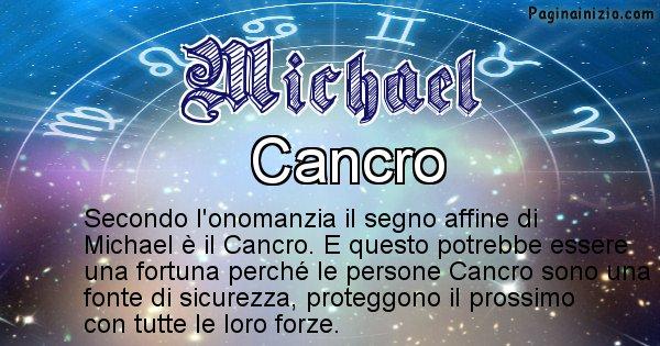 Michael - Segno zodiacale affine al nome Michael