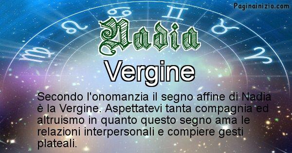 Nadia - Segno zodiacale affine al nome Nadia