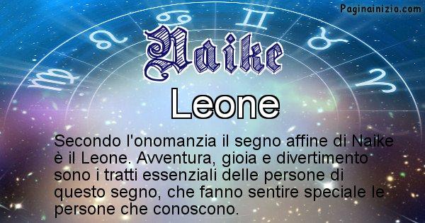 Naike - Segno zodiacale affine al nome Naike