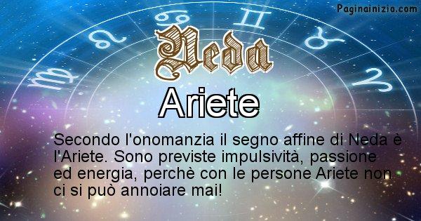 Neda - Segno zodiacale affine al nome Neda