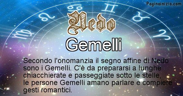 Nedo - Segno zodiacale affine al nome Nedo