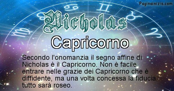 Nicholas - Segno zodiacale affine al nome Nicholas