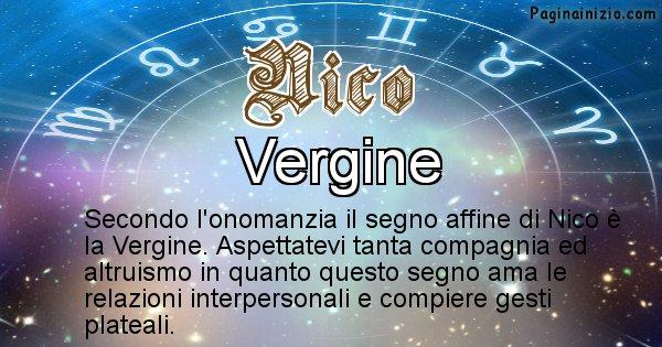 Nico - Segno zodiacale affine al nome Nico