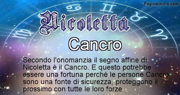 Nicoletta - Segno zodiacale affine al nome Nicoletta