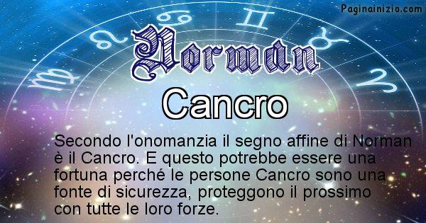 Norman - Segno zodiacale affine al nome Norman
