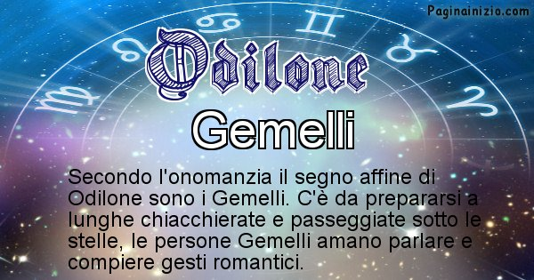 Odilone - Segno zodiacale affine al nome Odilone