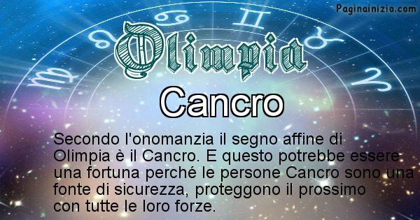 Olimpia - Segno zodiacale affine al nome Olimpia