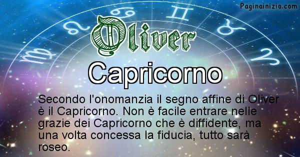 Oliver - Segno zodiacale affine al nome Oliver