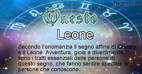 Onesto - Segno zodiacale affine al nome Onesto