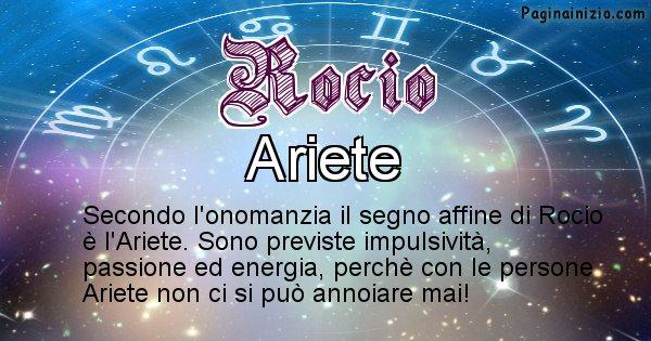 Rocio - Segno zodiacale affine al nome Rocio