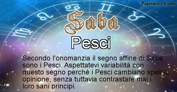 Saba - Segno zodiacale affine al nome Saba