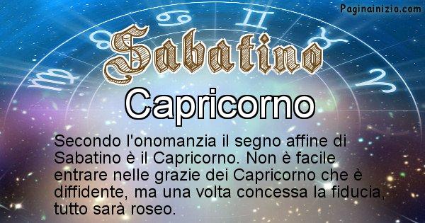 Sabatino - Segno zodiacale affine al nome Sabatino