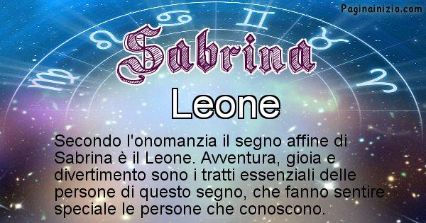 Sabrina - Segno zodiacale affine al nome Sabrina
