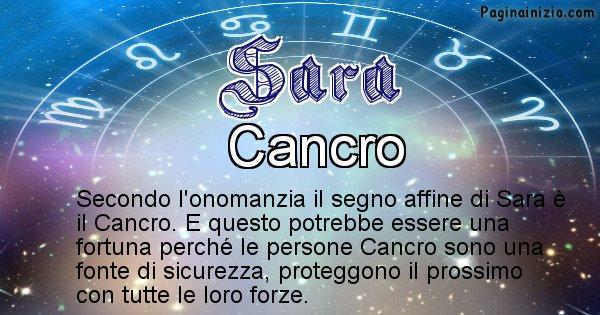 Sara - Segno zodiacale affine al nome Sara