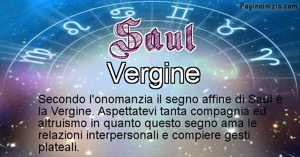 Saul - Segno zodiacale affine al nome Saul