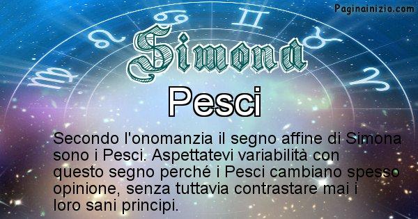 Simona - Segno zodiacale affine al nome Simona